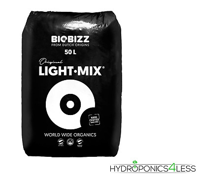 BIOBIZZ Light Mix 50L 20L & 10L Organic Soil Potting Compost Hydroponics Growing