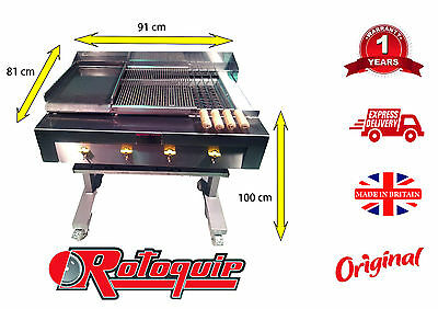 3 In 1 Char Grill Bbq Grill On Stand With Griddle & Hotplate Chargrill Charcoal