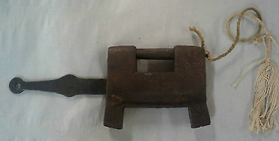 Antique Asian  Japanese Iron Jail Prison Lock Device