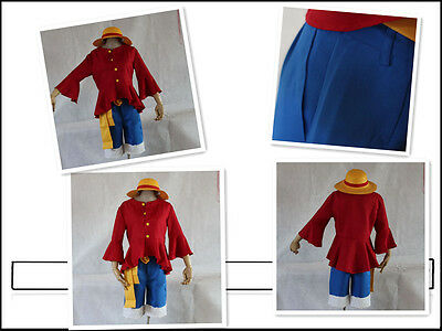 One Piece Monkey D Luffy 2nd Version cosplay costume with Hat