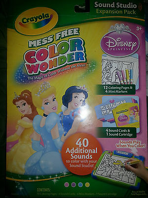 CRAYOLA MESS FREE COLOR WONDER SOUND STUDIO EXPANSION PACK**NEW**RARE**FREE SHIP