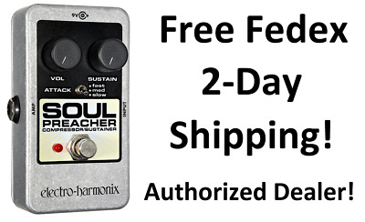 New Electro-Harmonix EHX Soul Preacher Compressor Sustainer Guitar Effects Pedal