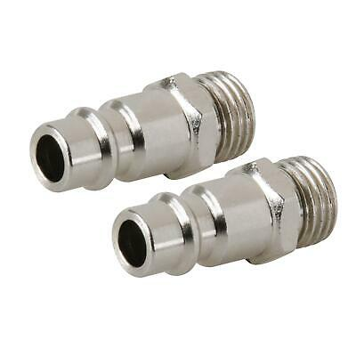 "2 Male Quick Release Euro Compressed Air Line Coupler Connector Fitting 1/4"" BSP"