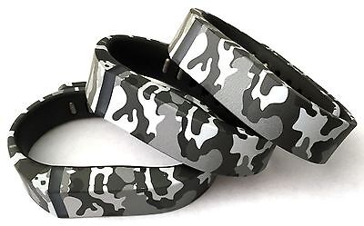 3pcs Small Camouflage Camo Army Bands & Clasps For Fitbit Flex  /No Tracker