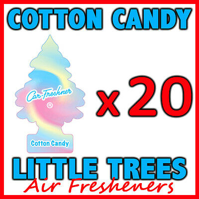 20 x COTTON CANDY LITTLE TREES AIR FRESHENERS Car Home Fragrance Freshener Scent