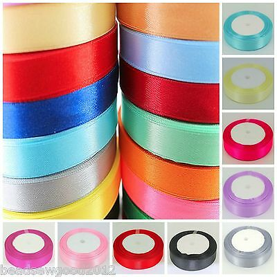 22 METRES OF SATIN RIBBON 12mm SOLD ON REELS Christmas Giftwrap Cake Decoration