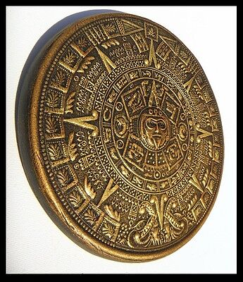 Aztec ,calendar, Decorative ,sculpture,handmade