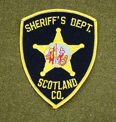 29536) Patch Scotland County North Carolina Sheriff Department Police Law