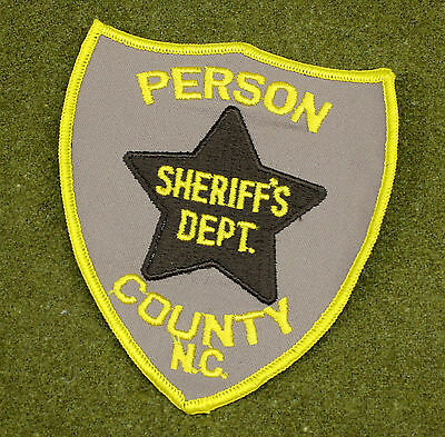 29537) Patch Person County North Carolina Sheriff Dept Police Law Enforcement
