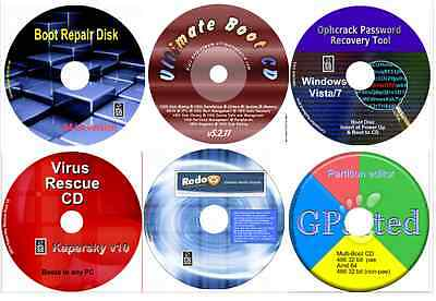 Boot Repair 64, Data Recovery, Password Restore, Virus Recover, Partition 6 disk