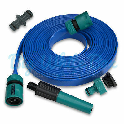 7.5m ( 24ft ) Motorhome / Boat / Caravan Roll Flat Food Grade Fill Up Hose Pipe