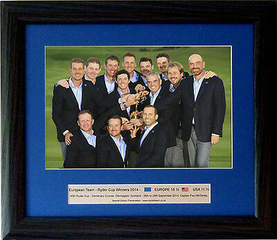 European Ryder Cup 2014 Winners – Special edition framed Presentation