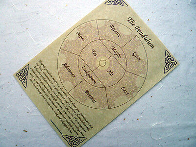 PENDULUM BOARD Parchment poster wicca pagan book of shadows pages BOS divination