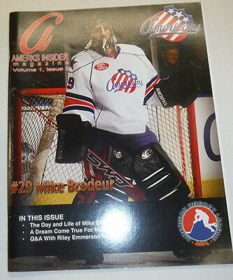 Americans Rochester Hockey Magazine Mike Brodeur 2008 100214R1