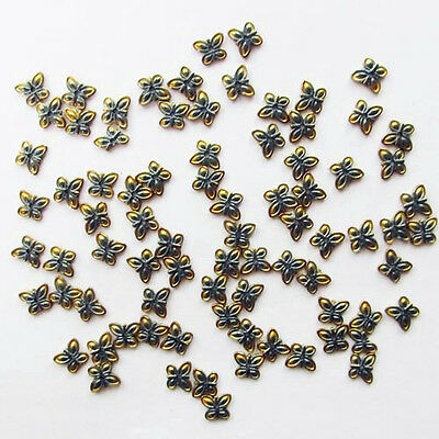 100Pcs Carved Hematite Butterfly Pendant Bead S4154