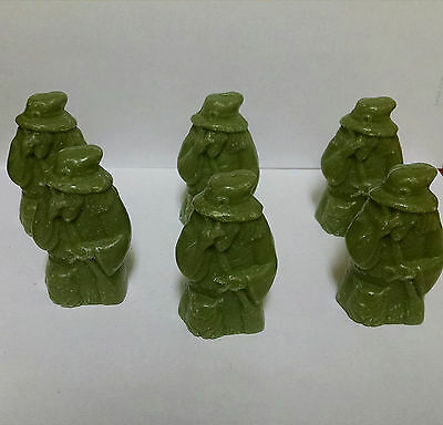 6 Green Halloween Witches Decorative Soaps