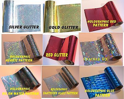 Toner Foil Craft Cards Laser Printer Heat Holographic 20cm x 8m Laminator Hot.
