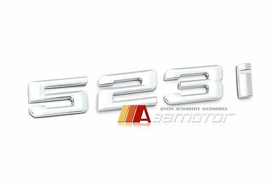 Chrome BMW 5 series F10 523i Boot Trunk Emblem Badge Decal Letter Sticker