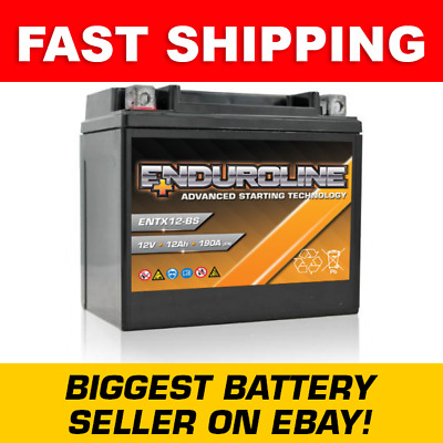 YTX12-BS High Power Enduroline Motorcycle Bike Battery - More Power than Lithium