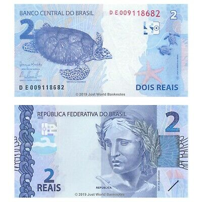 Brazil 2 Reais 2010 (2013) P-New Mint UNC Uncirculated Banknotes
