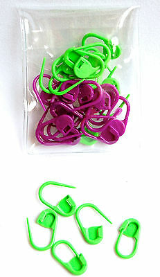 Knitpro Locking Lock Ring Stitch Markers Pack of 30 - Two Colours KP 10805