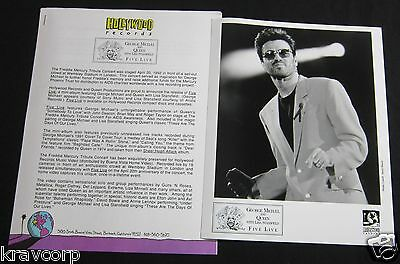 George Michael & Queen 'Five Live' 1993 Press Kit--Photo