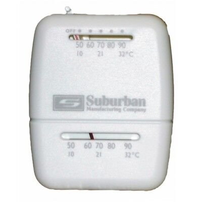 Suburban 161154 Furnace Wall Thermostat with Off Switch Heat Only
