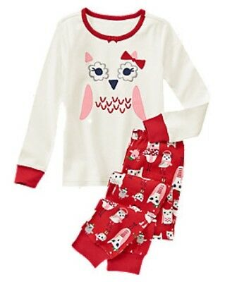 NWT Gymboree Boy OR Girl Holiday Owl Gymmies Pajama Set Sleep Set PJ NEW