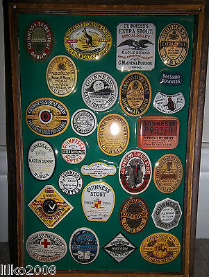 GUINNESS old bottle labels: EMBOSSED METAL ADVERTISING SIGN 30X20 CM, IRISH BAR