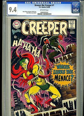 Cgc Beware The Creeper, D.c Ditko, 1 Nm 9.4 1968 0080953012 Off White Pages ***