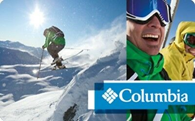 Columbia Sportswear Gift Card - $25 $50 $100 - Email delivery
