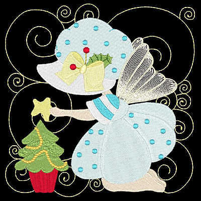 Christmas Sunbonnet Fairies - 36 Machine Embroidery Designs (Azeb)