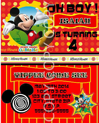 Disney Mickey Mouse Clubhouse Birthday Party Invitations 8 pk Personalized