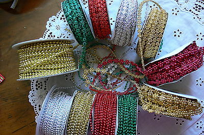 String of Pearls 2-3 & 9mmWide 2 & 5 Metres 11 Colour/Styles May Arts MultiList