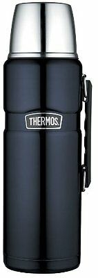 Thermos Stainless King 2-Liter/68-Ounce Beverage Bottle, Midnight Blue , New, Fr