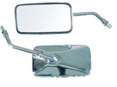 New Universal Custom Cruising Mirror 10Mm Standard Thread 1 Piece L / R Free P&p
