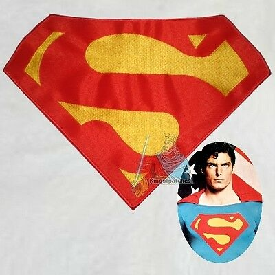 Superman Suit Replica Logo Embroidered Big Patch Christopher Reeve Movie Costume