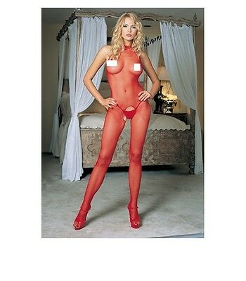 CATSUIT Bodystocking tuta SEXY Hot rossa Lingerie donna sexy shop intimo