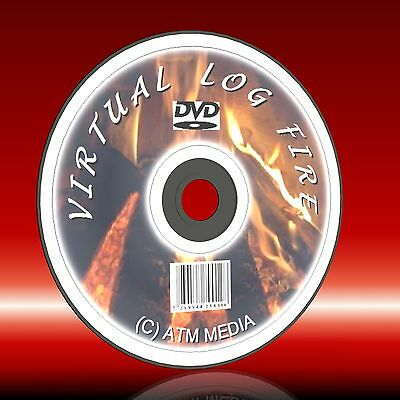 Virtual Real Log Fire On Any Tv Pc On Dvd Relax Realistic Cosy Sound And Vision