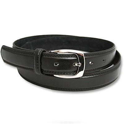 New Boys Black Leather Lined Belt School Wedding Nwt