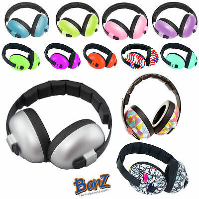 Banz Kids Baby Childrens Mini Earmuffs Ear Defenders - Age 3 Months+ ALL DESIGNS