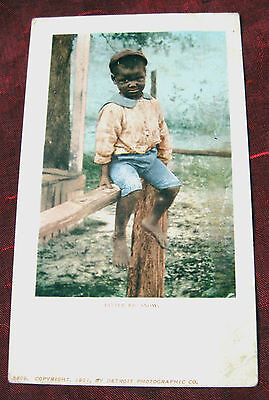 1900 Photo Postcard~ LITTLE EB SNOW~ Black Americana vintage RPPC