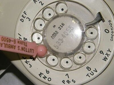 Old Vintage Rare Rotary Phone Dialers Advertising Tool Antique Industrial Era