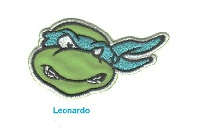 "Teenage Mutant Ninja Turtles - ""LEONARDO"" Iron-On or Sew On Patches 5cm x 9cm"