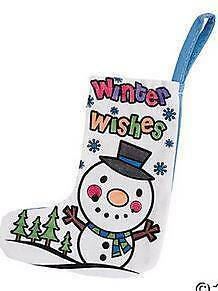 1 Color Your Own Mini Winter Wishes Stocking Craft Kids Gift