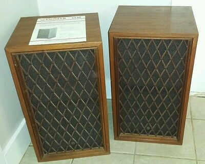 Vintage Pioneer CS-88 lattice front Stereo Speakers 1 Owner