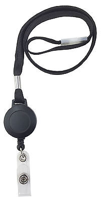 Retractable Lanyard Neck Strap Lanyard & Badge Reel With Safety Breakaway Clip