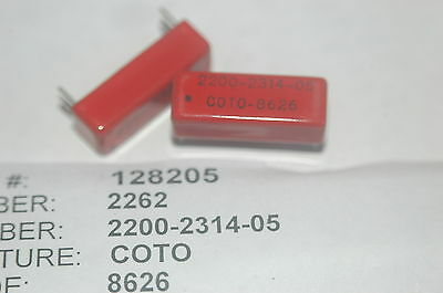 COTO 2200-2314-05 Reed Relay HTS: 8536410060 ECCN: EAR99 New Lot Quantity-2