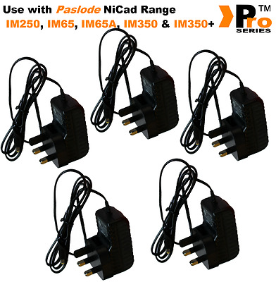 5 x Paslode Spit Pulsa Replacement AC/DC Mains Battery Charger Adaptor 240v
