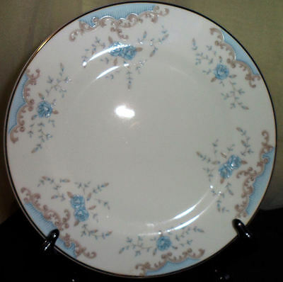 Imperial Seville China Bread Butter Plate W Dalton Blue Rose Pattern Japan 5303